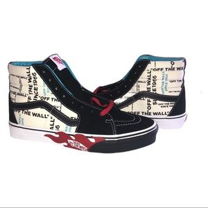 Vans Off the Wall Flame All Over Sk8-hi Sneakers